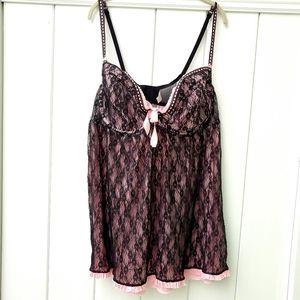 Cacique baby doll lacy lingerie plus size 26/28